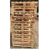 pallets de madeira descartável local Cesário Lange